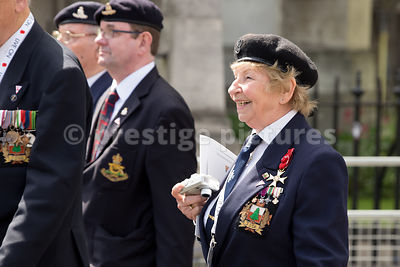 Veterans in the Parade from Westminster Abbey