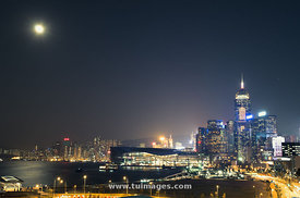 full moon night on victoria harbour
