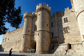 Palace of the Grand Masters, Rhodes Old Town, Rhodes, Dodecanese islands, Greece.