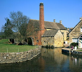 the old mil,l lower slaughter near burton on the water, cotswolds, gloucestershire, england.