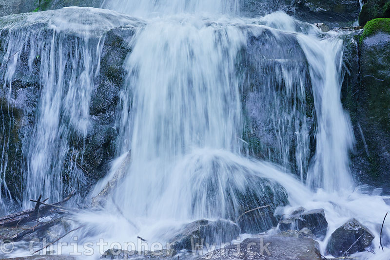 Stunning close-up of the lwoer section of Laurel Falls.  Looking at this image you can almost hear the water flowing.