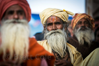 Sadhu at a ceremony in Pushkar, Rajasthan, India