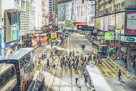 Hong Kong Causeway Bay morning