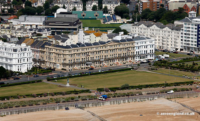 aerial photograph of Lansdowne Terrace King Edward's Parade Eastbourne BN21 4EE England UK