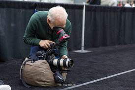 A photographer at 2014 NCAA Fencing Championships at French Field House-Columbus in Ohio.