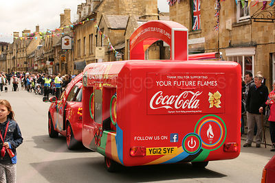 Coca Cola Promotions Trailer at Olympic Torch Relay