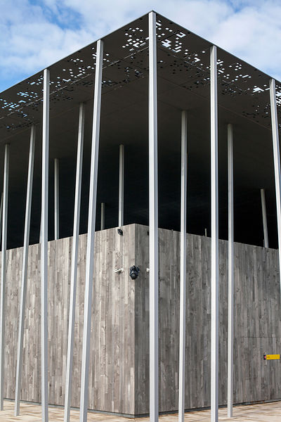 UK - Wiltshire - Architectural details of the new visitors centre at Stonehenge designed by Denton Corker Marshall LLP