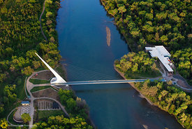 Sundial Bridge From the Air #10