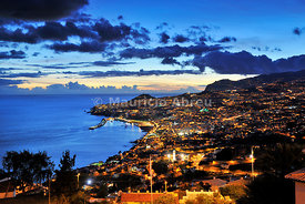 Funchal at sunset. Madeira, Portugal