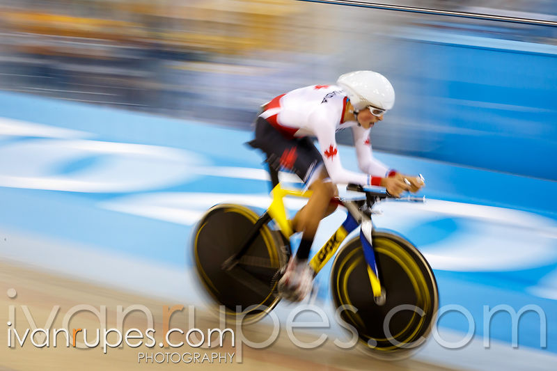 Men's Individual Pursuit C1-3  Qualification. Track Day 2, Toronto 2015 Parapan Am Games, Milton Pan Am/Parapan Am Velodrome, Milton, On; August 11, 2015