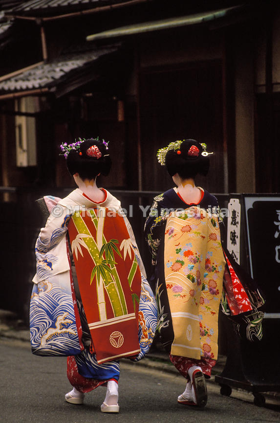 Two Geisha on the streets of Japan