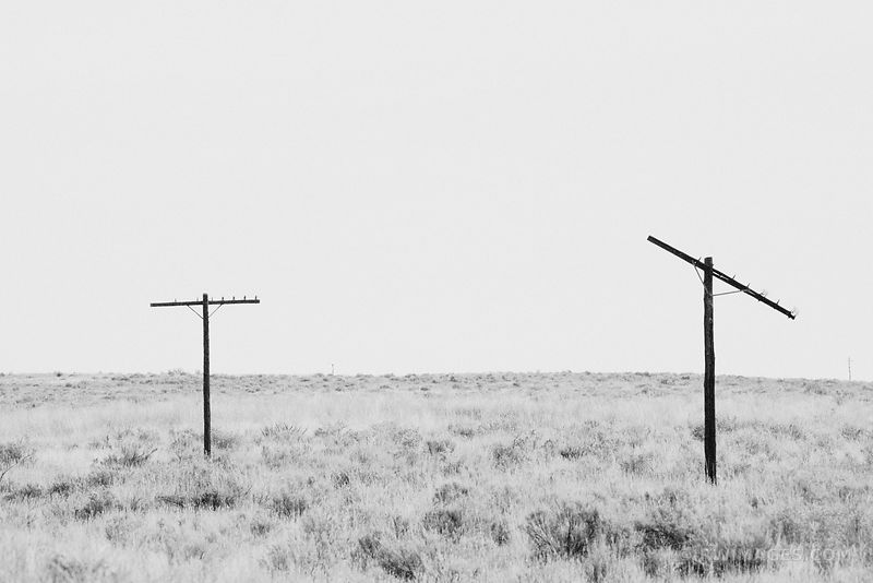 POWERLESS - ROUTE 66 ARIZONA BLACK AND WHITE