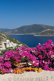 View of coastline Kisla near Kalkan, Lycian Coast, Kalkan, Turkey.