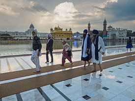 The beautiful morning at the Golden Temple