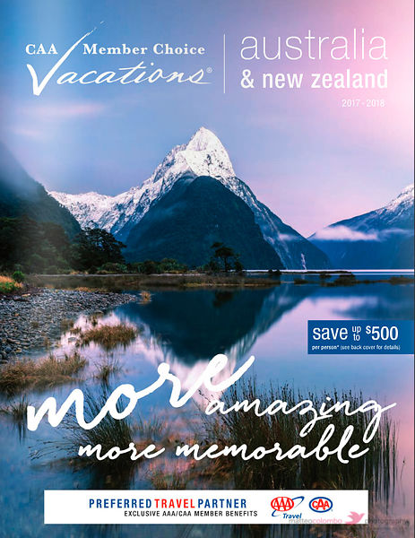 Cover travel brochure Collette Australia
