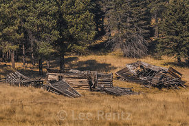 Decaying Old Movie Set in Valles Caldera National Preserve