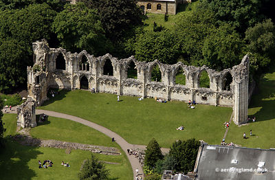 aerial photograph of St Marys Abbey York