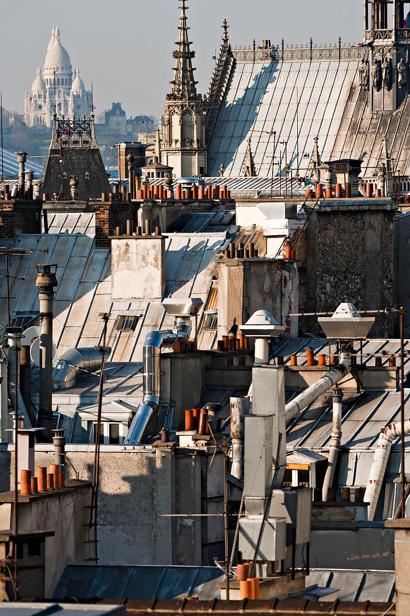 Phototh que arnaud frich les toits de paris et la basilique du sacr coeur - Visite des toits de paris ...