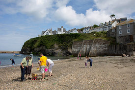 Angleterre, Cornouailles, Port Isaac, plage