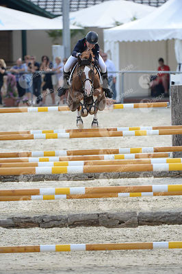 CHARLES Harry, (GBR), VIVALDI DU DOM during  competition at European Jumping Championship for Children, Juniors, Young riders at Lake Arena, Wiener Neustadt - Austria