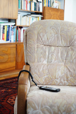 Comfortable TV chair in a living room