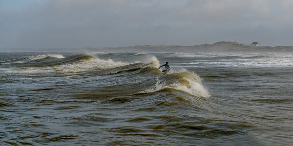 Danish surfer near Løkken 2