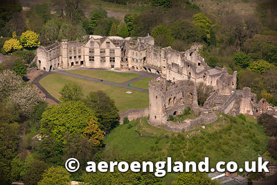 Dudley Castle aerial photo