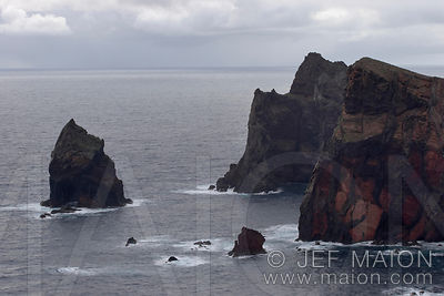 Sea cliffs and spire