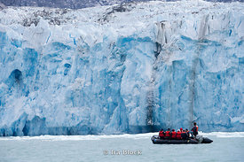 People from National Geographic Sea Lion taking a zodiac cruising at Dawse Glacier, Endcott Arm, Southeast Alaska.