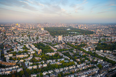 Aerial view of Notting Hill, London