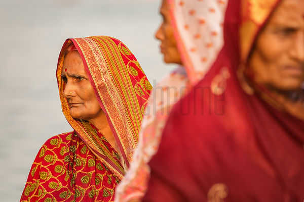 Portrait of Women at the Chhat Puja Festival