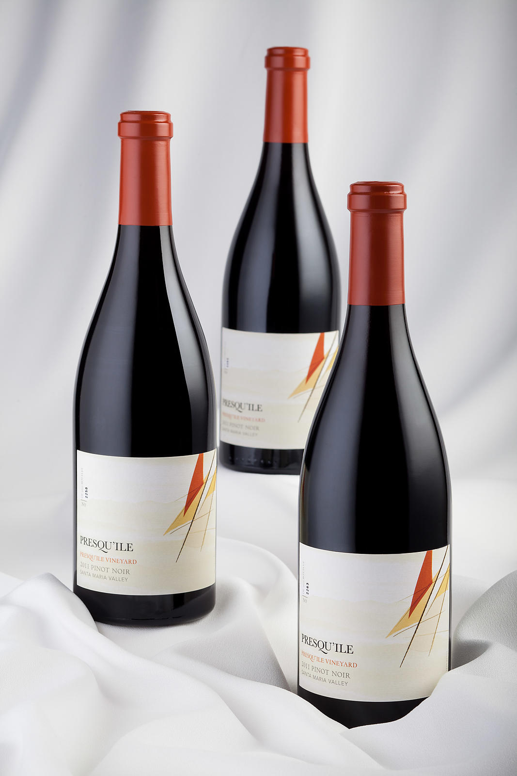 Wine bottle packaging photography for marketing and design firms.