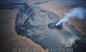 Aerial photofraph of Erte Ale volcano in Ethiopia