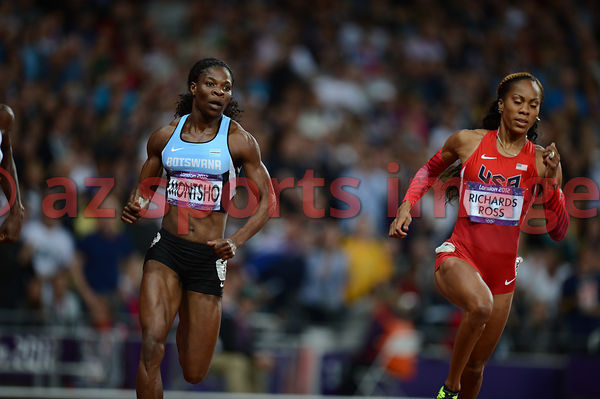Amantle Montsho (BOT), Sanya Richards-Ross (USA)