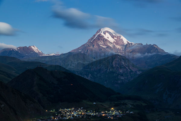 View of Mt Kazbegi at Dawn