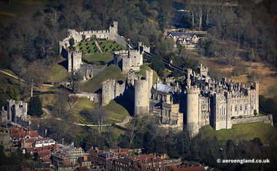 aerial photograph of Arundel Castle West Sussex  England UK