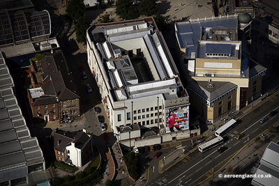 aerial photograph of  the Graves Art Gallery Sheffield