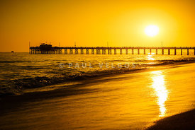 Balboa Pier Sunset in Orange County California Picture