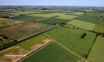 deserted medieval village ( DMV ) adjacent  New River Gate   Holbeach Drove Lincolnshire from the air