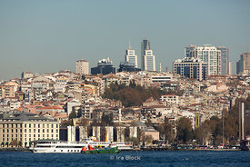 Ortaköy district on the Bosphorus in Istanbul.