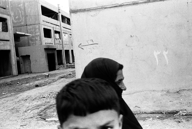 A Shi'ite mother and son in the Saddam City district of Baghdad