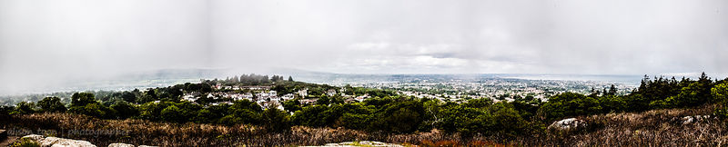 Panoramic view, Killiney Hill, Ireland