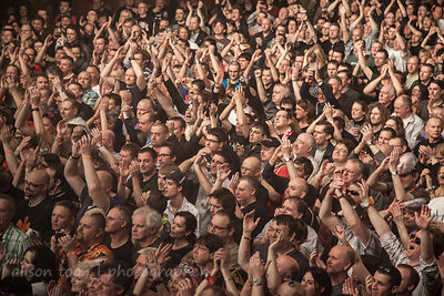 Marillion fans on the Friday night of the Marillion Weekend, Wolverhampton UK, 2013