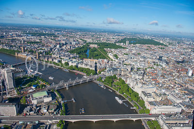Aerial view of London Victoria Embankment