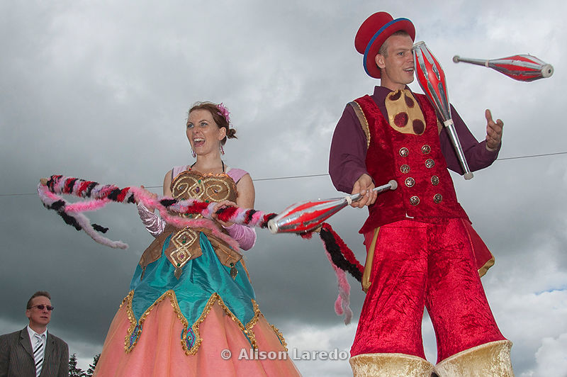 Claremorris Agricutural Show Jugglers on stilts by Alison Laredo