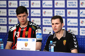Mihajlo MARSENIĆ of Vardar, Raul GONZALES of Vardar during the Final Tournament - Final Four - SEHA - Gazprom league, semi finals match, Varazdin, Croatia, 03.04.2016..Mandatory Credit ©SEHA/Zsolt Melczer