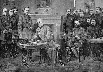 Civil War: surrender of General Lee
