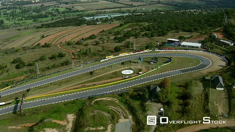 Aerial over Kyalami Race Track and surrounding areas. Gauteng South Africa