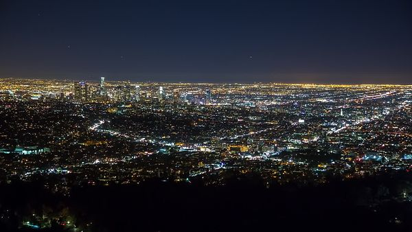 Bird's Eye: An Off Centered Downtown Los Angeles Framed By Neighborhoods & Lights