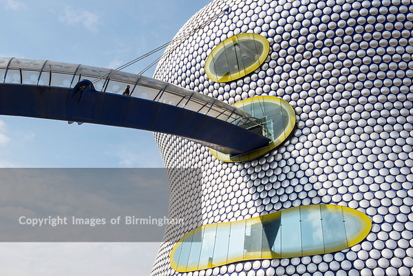 The Selfridges building and bridge, The Bullring shopping centre, Birmingham, England